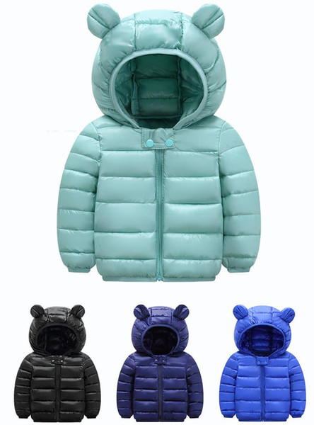 Cute 1- 6y baby girls jacket kids boys fashion coats with ear hoodie autumn girl clothes infant clothing children's jackets