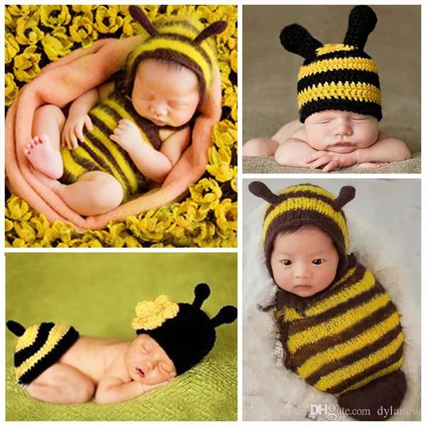 d37e8ae35 Fashion Newborn baby hand made Kid Hat Photography Props crochet Cap Girl  Boy Costume Cute Playsuit