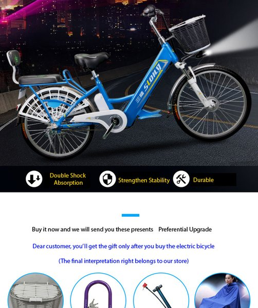 BICYCLE ELECTRIQUE POUR ADULTES, NOUVELLE BATTERIE AU LITHIUM 201V 48V8Ah 20 'TRAVEL 240W