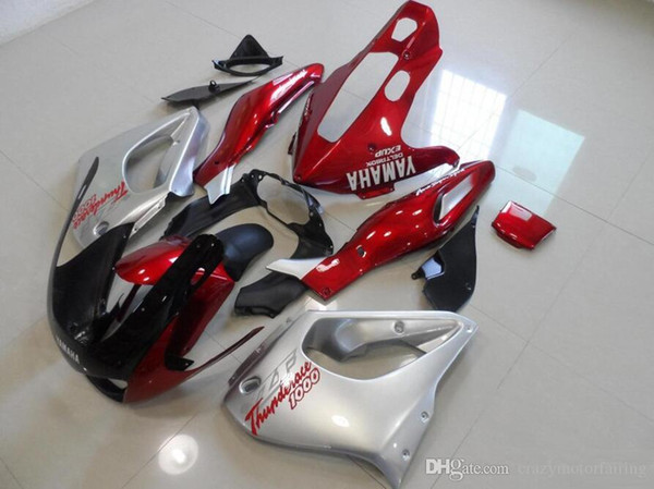 3 Gifts New ABS Fairing set 100% Fit For YAMAHA Thunderace YZF1000R 1996 1997 1998 1999 2000 2001 2002 2003 2004 2005 2006 2007 red silver