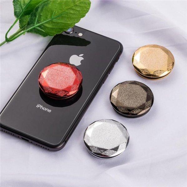 New creative electroplated diamond drill selfie device around headphone wire airbag mobile phone bracket