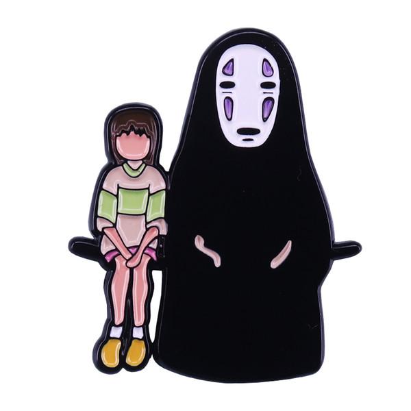 Chihiro y ninguna placa facial regalo de mejores amigos inspirado en Spirited Away