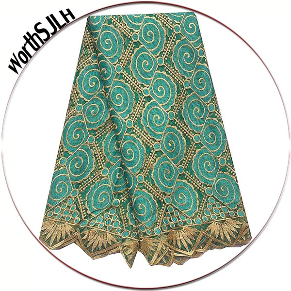 WorthSJLH Beaded African Lace Fabric 2019 Teal Blue Dubai Mesh Laces Material French Net Cord Lace Fabric For Evening Dresses