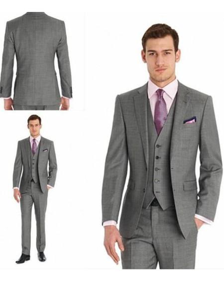 Yakışıklı Groomsmen Tepe Yaka Damat smokin Mens Gelinlik Man Ceket Blazer Balo Yemeği 3 Adet Suit (Ceket + Pantolon + Kravat + Yelek) AA59