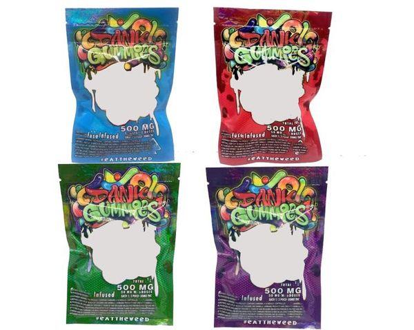 best selling Dank Gummies Bag Edibles bags Packaging Worms 500MG Edibles Bears Cubes Gummy bags Wholesale