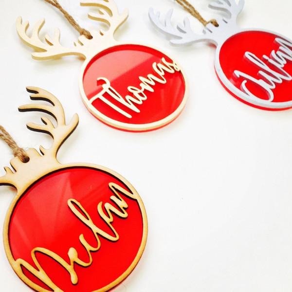 Arbre de Noël personnalisé Babiole d'arbre de Noël Cadeau personnalisé Rudolph