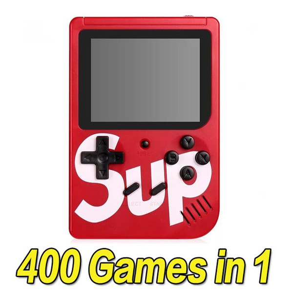 best selling SUP Games Console 400 in 1 Portable Handheld Game Pad Retro 8 bit 3 Inches Color LCD Display Best Gifts for Kids