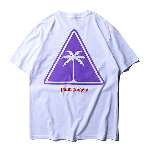 Palm Angels Pocket T-shirt Homme À Manches Courtes En Coton Noir T-shirt Cool Tees D'été Hiphop Streetwear