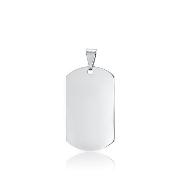100% piastre in acciaio inox Dogtags Pendant per Identifier metallo bianco esercito fascino lucidato a specchio 10pcs