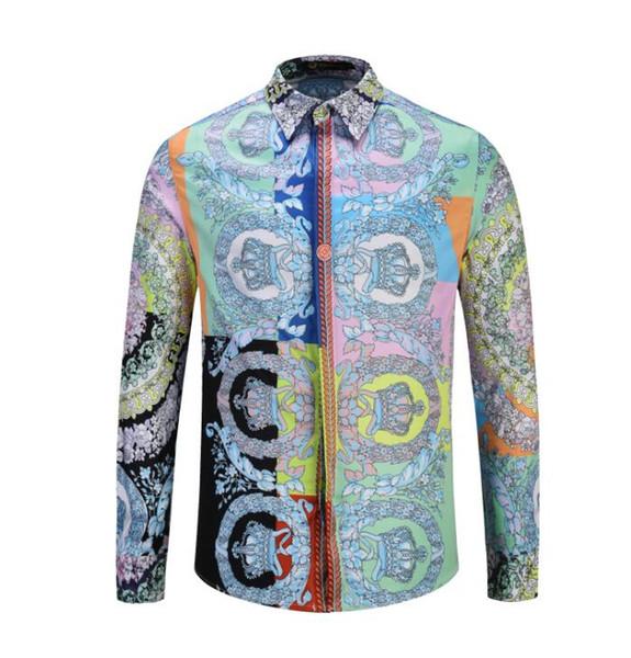 Designer t-printing 2019 men's shirt harajuku fashion leisure shirt man medusa black tiger leopard fancy cultivate one's morality shirt M-2