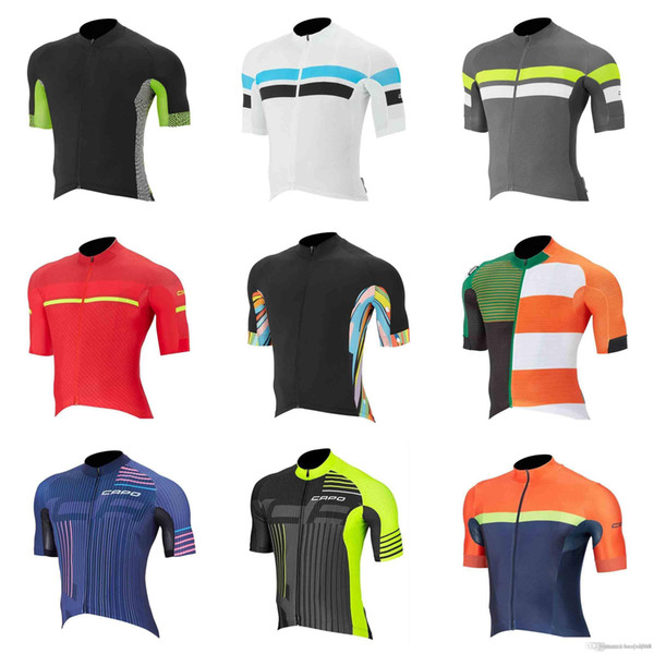 CAPO team Cycling Short Sleeves jersey new Men cycling jersey cycling clothes Wear Comfortable Breathable Hot New Jerseys 833107