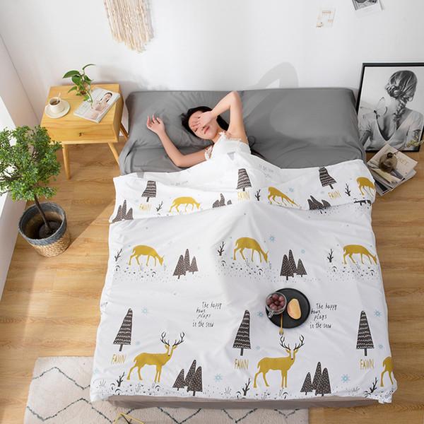 Açık zarf uyku tulumu taşınabilir seyahat otel uyku tulumu astar polyester taşınabilir kamp