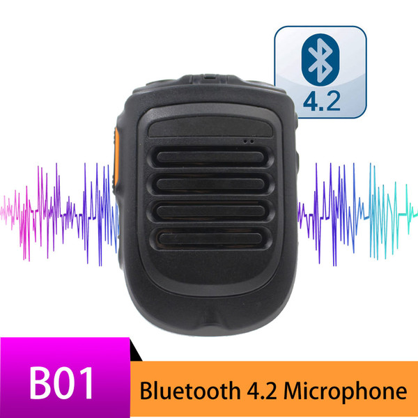 El micrófono Bluetooth para TM-7 W7 W7plus IP Car Moblie Radio funciona con el micrófono inalámbrico de mano REALPTT ZELLO TM-7plus B01