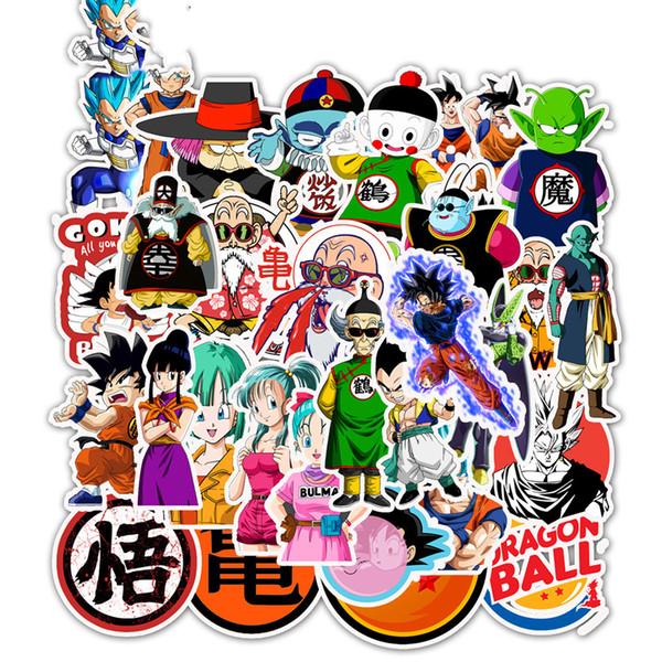 50 pz / pacco Dragon Ball Anime Sticker Misto per auto Laptop Skateboard iPad biciclette moto PS4 PS3 adesivi adesivi in PVC
