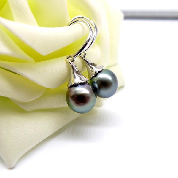 Aaaa Tahiti Pearls Southsea Water Pearls 925 Sterling Silver Earrings Women Gift Y19052301