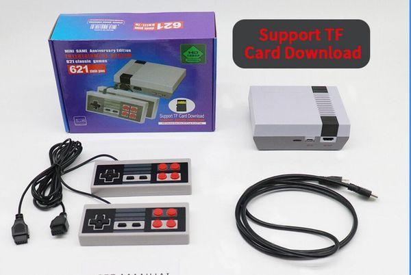 Les joueurs de jeu portables de console de jeu portatifs de vidéo de jeu en gros de HDMI peuvent stocker 621 jeux de Nes avec la carte de TF avec la boîte au détail