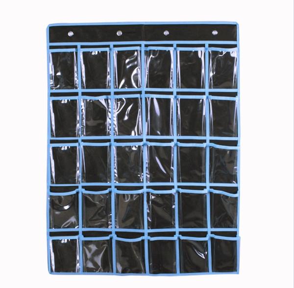 Over the Door Hanging Storage Bags Wall Door Closet Wardrobe 30 Pockets Hanging Toiletry Bag Shelf Rack Holder Shoe Underwear Socks Organize
