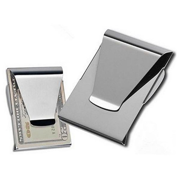 1Pc Stainless Steel ID Card Folder Double Sided Wallet Holder Slim Money Clip