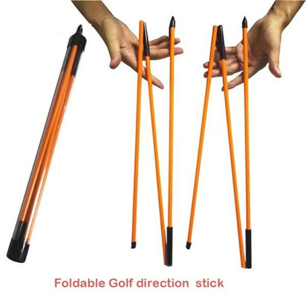 2рс Складная UV покрытием Golf Alignment Палочки Учебное оборудование Aid грабит Для Correct мячем Direction