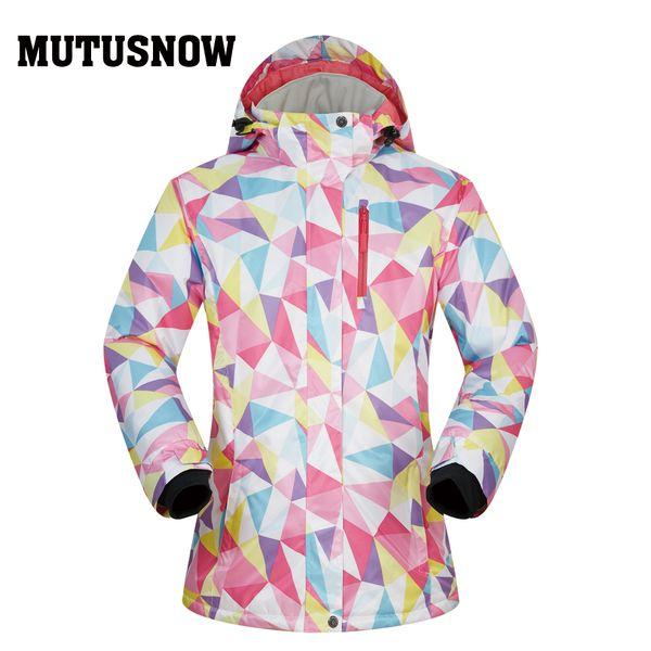 MUTUSNOW Snowboard Women Jacket Ski MUTUSNOW 2019 New Quality Winter Windproof Waterproof Warmth Snow Skiing Winter Snowboard Coat Brands