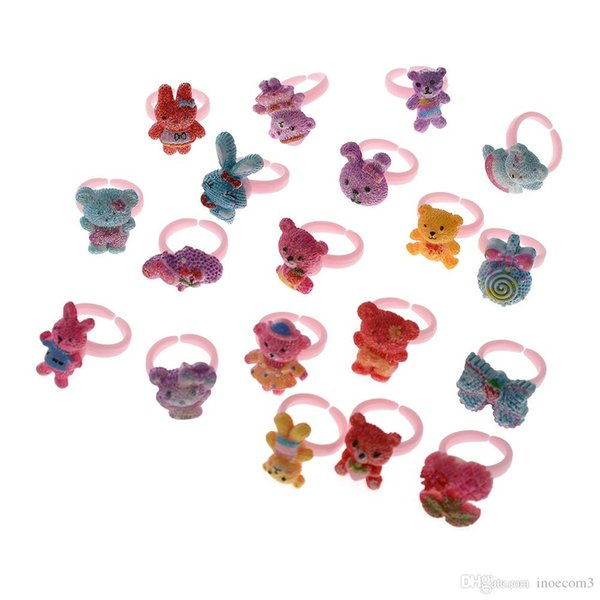 150pcs Cute Cartoon Pattern Children Ring For Gifts Daily Random Style High Quality Size Diameter 14