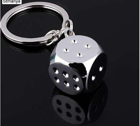 New Creative Key Chain Metal Personality Dice Poker Soccer Brazil Slippers Model Alloy Keychain For Car Key Ring #17045