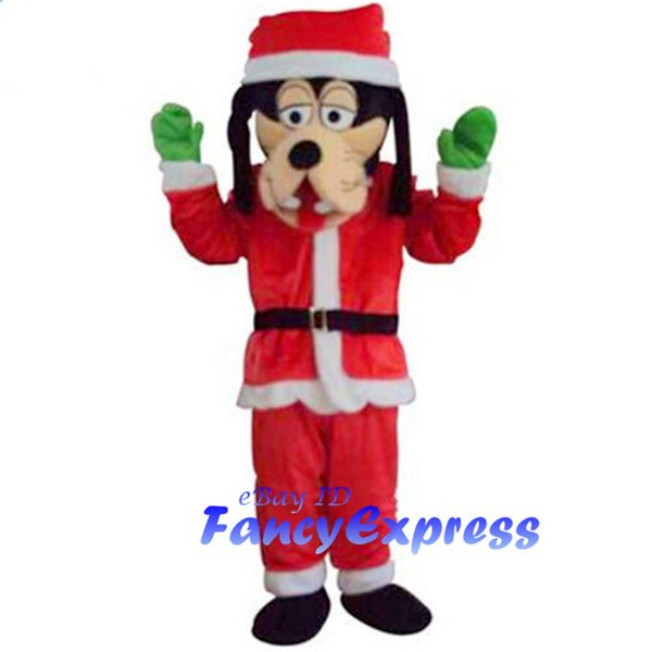 Christmas Dress Dog Mascot Costume Halloween Fancy Party Dress Adult Outfit