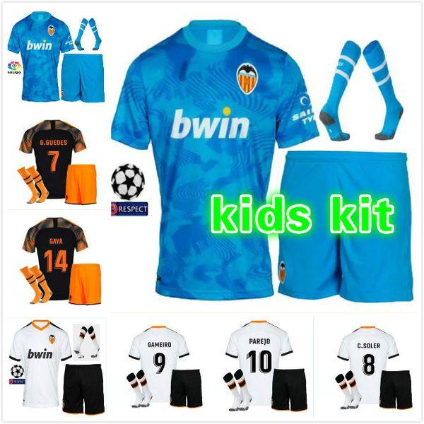 Best Kids Kit 2019 2020 valencia FC Soccer jersey MINA PAREJO GAYA VIETTO GUEDES ZAZA G.GUEDES RODRIGO 19 20 valencia child football shirt