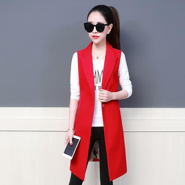 İlkbahar Sonbahar Uzun Blazers Kadınlar Artı boyutu XXXL ceket Bayan gündelik İnce Vahşi Blazer WINDBREAKER ceket Şık Ofisi başında uyacak