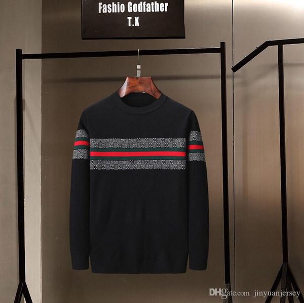 Neue neueste supre designer herbst winter herren pullover klassische mode pullover männer marke crew neck clothing