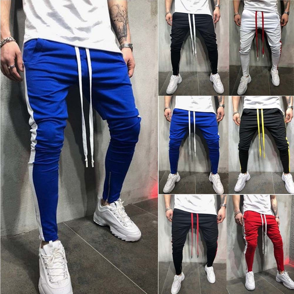 wanghongmei8888 / Hirigin Harajuku Fashion Mens Joggers Slim Pencil Pants Hip Hop Streetwear Mens Clthes 2018 Hombres Pantalones de chándal Track Pant Hot New
