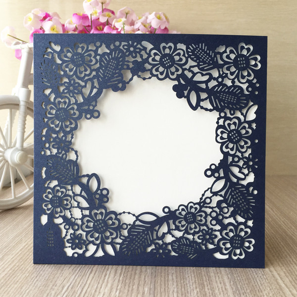 Decoration Lace Envelope Luxury Wedding Invitations Cards Using To Business Theme Show Festival Happiness Invitations Supplies