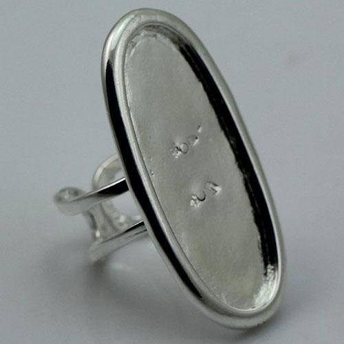 Beadsnice Large Bezel Ring Setting Ring Base for Jewelry Making Adjustable Antique Bronze Oval Shape Nickel Free Lead Free ID 1875