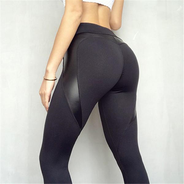 2018 heißer verkauf patchwork herz hüfte frauen leggings sportswear für frauen bodybuilding grau schlank sexy fitness leggins weibliche hosen