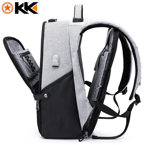 KAKA New 15.6inch Laptop Backpack Male USB Business Anti theft Backpack for Men Mochila Fashion Travel Backpacks School Bags 806