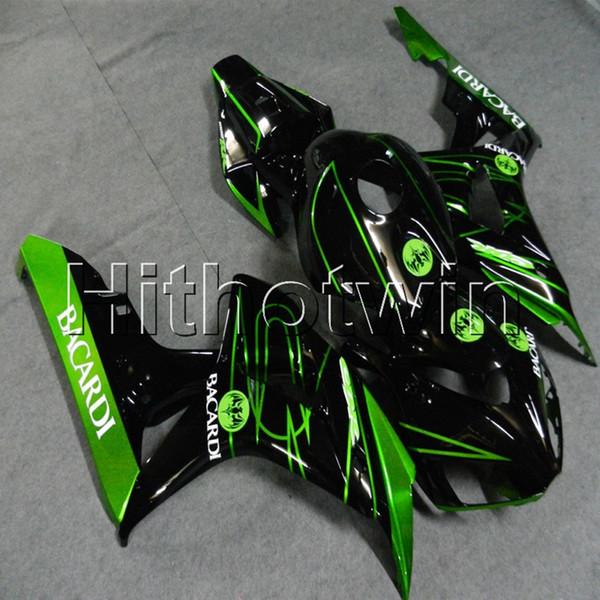 Regalos + Tornillos Moldeo por inyección artículo de motocicleta verde negro para HONDA CBR1000RR 2006-2007 CBR1000RR 06 07 ABS motocicleta Carenado del casco