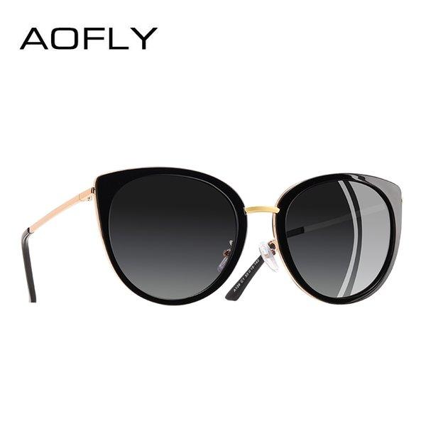AOFLY БРЕНД-ДИЗАЙН Женские солнцезащитные очки Vintage Style с металлическим каркасом женские поляризованные солнцезащитные очки Оттенки женские очки Gafas A139