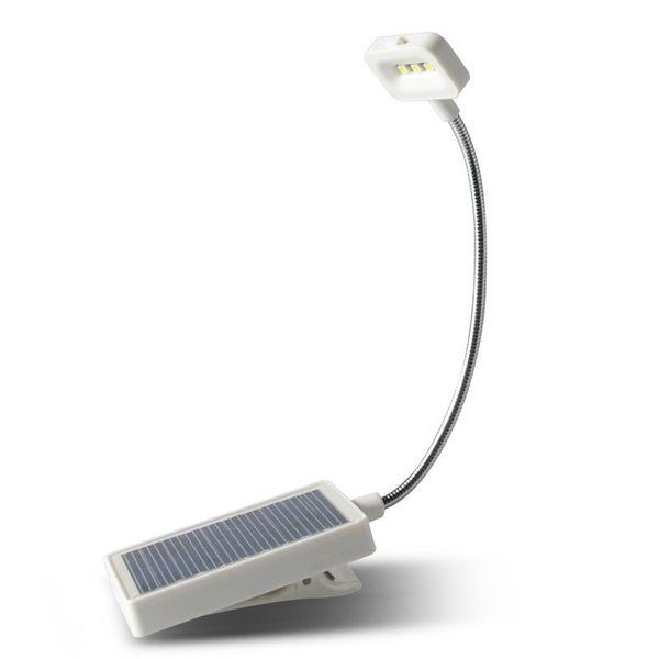 3 LED Solar/USB Power Charging Flexible Clip Bedside Reading Book Lights Study Light Desk Table Lamp