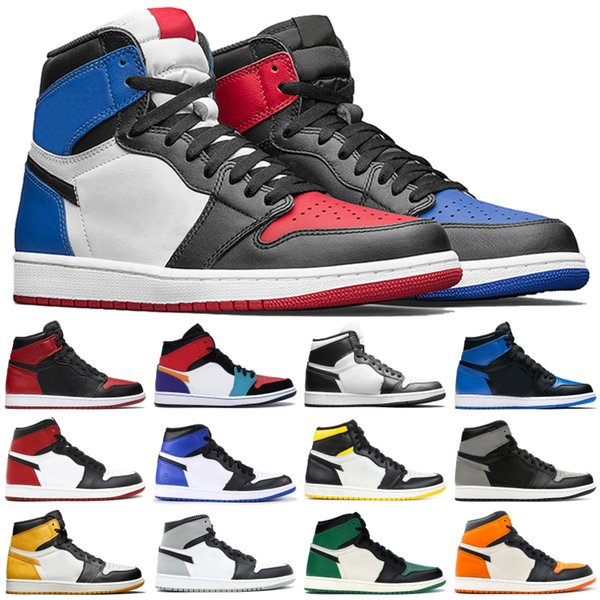best selling 7-13 Mens Top 3 High 1 OG basketball shoes Resale Black Toe Banne mid chicago Track Red 1s UNC mens designer Trainers Sneakers