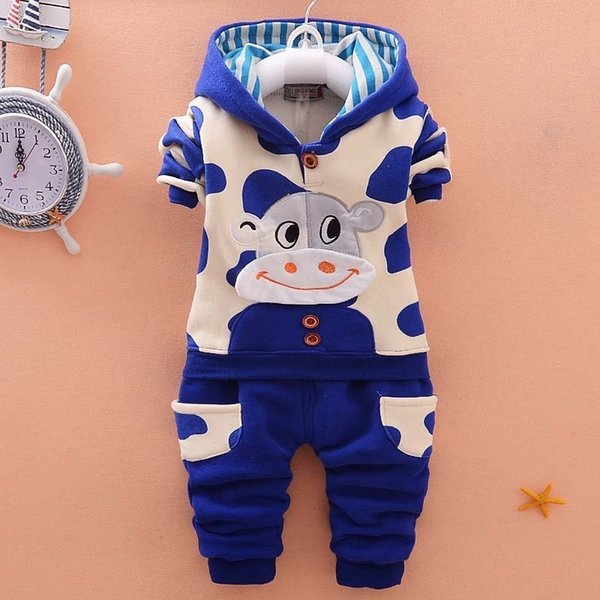good quality 2019 autumn baby boy clothes long sleeve cartoon coat+ pants 2pcs suit newborn baby boys clothing sets kids tracksuit