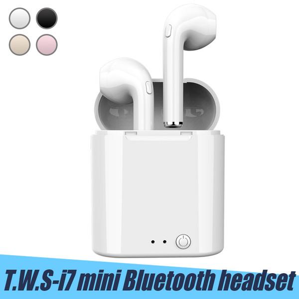 i7 i7S Mini TWS Auriculares Bluetooth Gemelos auriculares inalámbricos con cargador Dock V4.2 Auriculares estéreo para iPhone X 8 S9 Plus Android