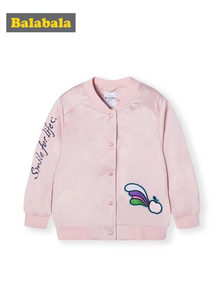 Balabala Çocuk giyim ceket kızlar beyzbol üniforma bahar 2019 yeni çocuk bebek Kore versiyonu pamuk yumuşak ceketler