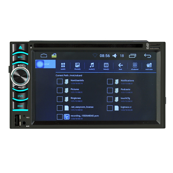 6116 car stereo dvd car dvd player with 6.2 inch capacitive touch screen