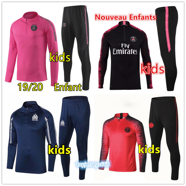 2019 survetement enfant jordam tracksuit training suit mbappe kids Maillots de football kit Madrid ronaldo soccer jacket