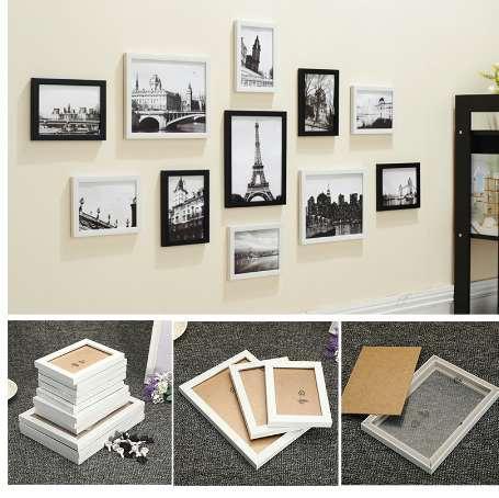 11 Pcs Wall Hanging Photo Frame Set Família Imagem de Exibição Arte Moderna Casa Decoração Para Corredor Quarto Sala de estar Decoração Da Parede