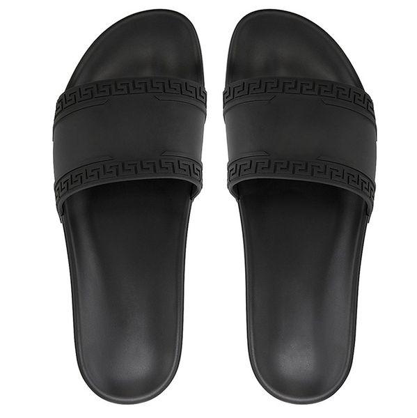 top popular 2019 With box hot brand Men women Beach Slide Sandals Medusa Scuffs Slippers Mens white Beach Fashion slip-on designer sandals US 5.5-12 2019