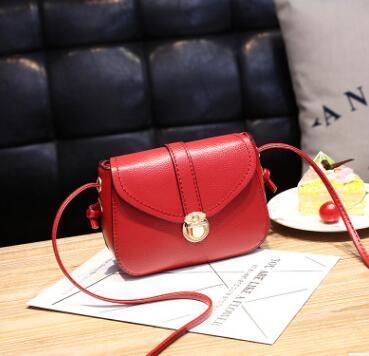2018 Franbrani tui Hot handbag PU pure color single shoulder bag lady temperament small square Bag Satchel A MX191216