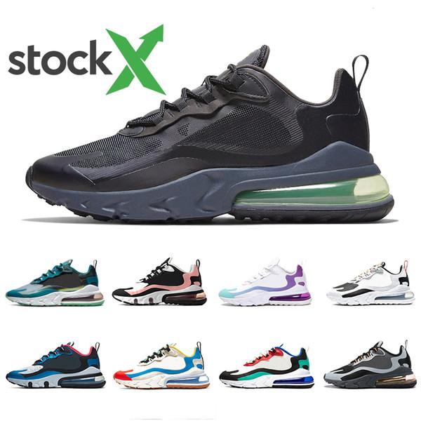 Nike AIR MAX 270 React shoes 2019 Hot Punch Wolf Grey Uomo donna Triple Black white Tiger Scarpe da corsa oliva Training Sport Mens Scarpe da ginnastica Zapatos Sneaker