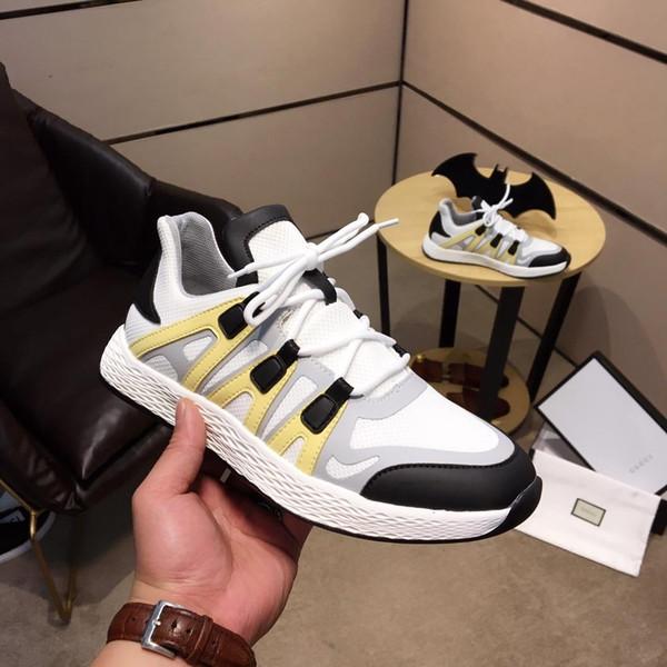 2019v otoño nuevo diseñador de lujo de moda para hombre zapatos deportivos al aire libre, zapatos casuales salvajes de baja calidad, tamaño: 38-44