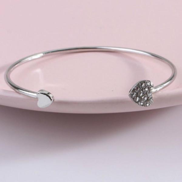 M MISM Women Love Bracelet Gioielli Crystal Heart Bow Bilezik Cuff Bracciali Apertura Braccialetti Regalo Pulseras Cremo bijoux femme